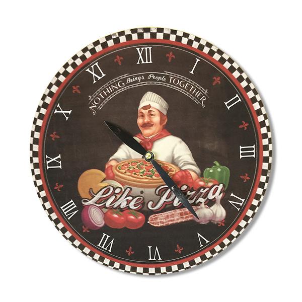 RELOJ de Pared Pizza 28cm.