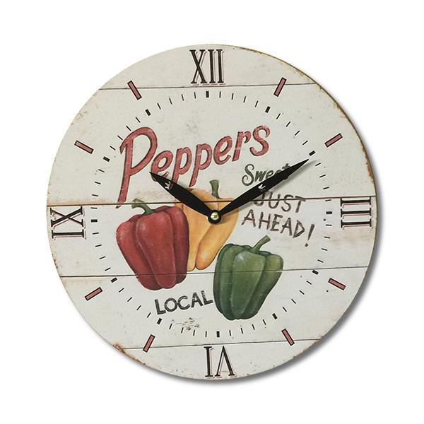 RELOJ de Pared Peppers 28cm.
