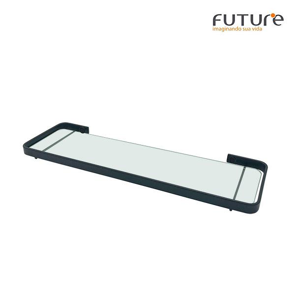 REPISA vidrio Negro Mate FUTURE 11,5x38,5x2cm H  Evoluzione