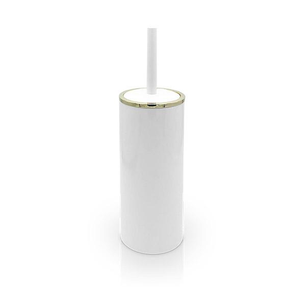 ESCOBILLA p/Inodoro Lenox Blanco / Oro Ø10 x 33cm