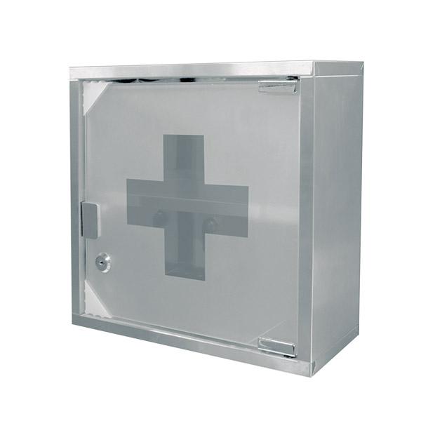 BOTIQUIN Primeros Auxilios c/LLaves Acero 30X30 / 12cm Prof.