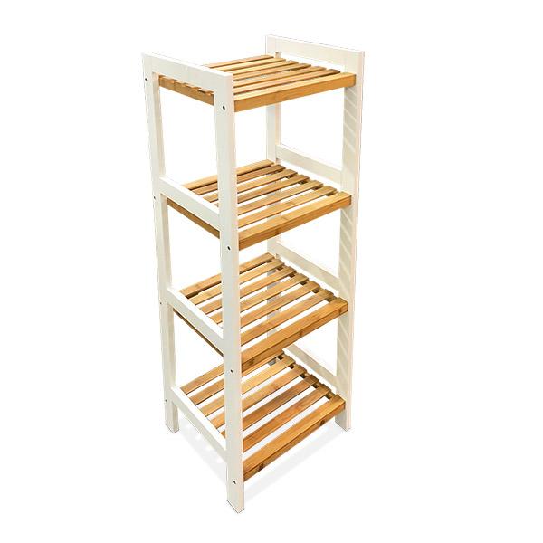 MUEBLE 4 Estantes Bamboo/Bco. 32x32x108cm