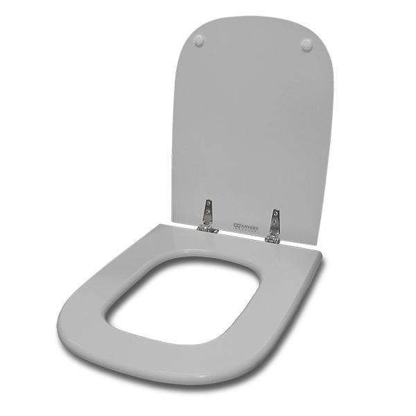 TAPA WC Mad/Laq Herr/Metal Cuadrada Gris