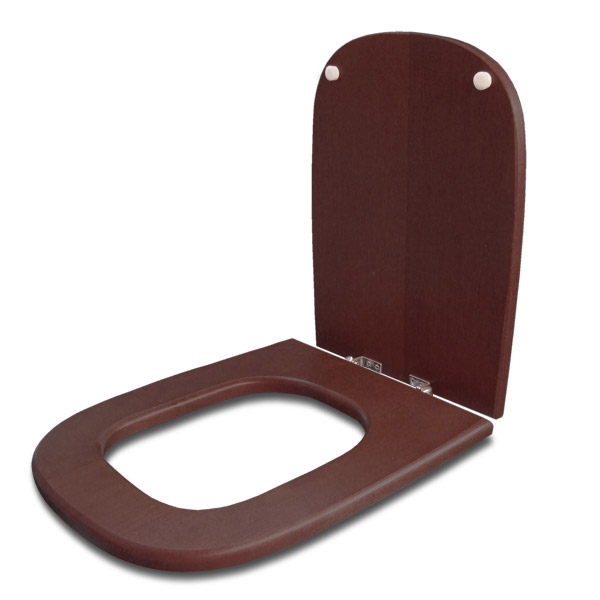 TAPA WC Madera Herr/Metal Cuadrada Tabaco