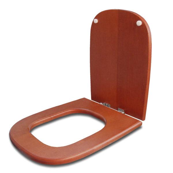 TAPA WC Madera Herr/Metal Cuadrada Cedro Rojiza