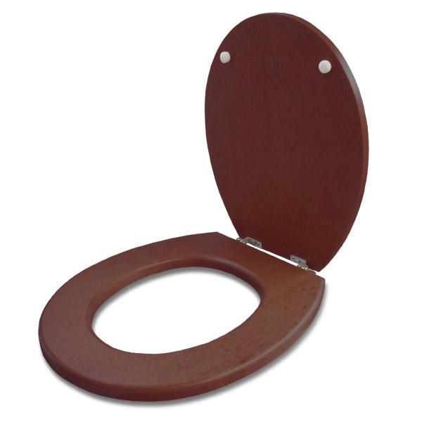 TAPA WC Madera Herr/Metal Oval Tabaco