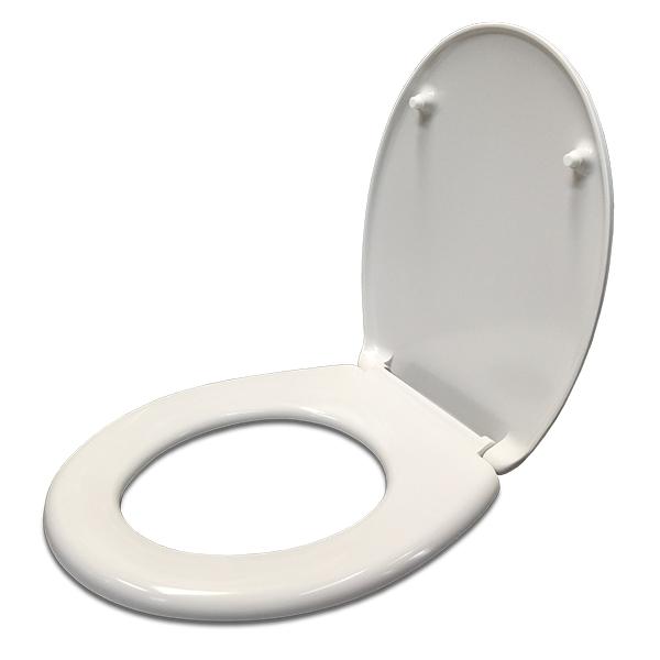 Tapa Inodoro Melamina Oval c/Cierre Soft Blanco