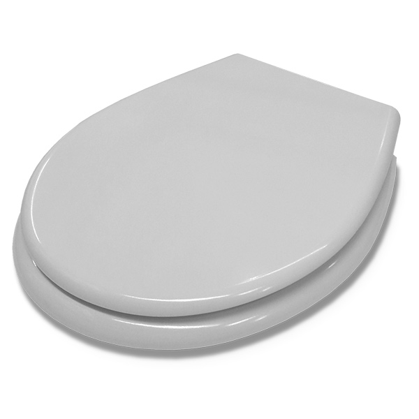 Tapa p/Inodoro Melamina Blanca c/Herraje de Acero Regulable Ancho 35.7 / Largo 44.5cm