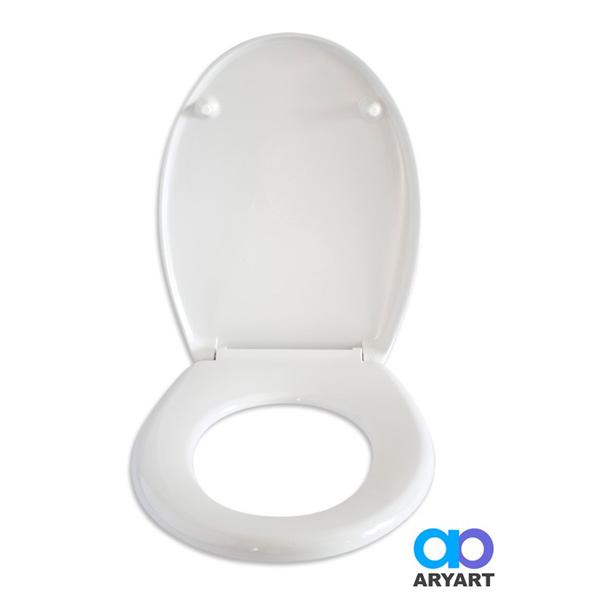 Tapa p/Inodoro Melamina Blanca Facil Limpieza c/Herraje de Acero Regulable