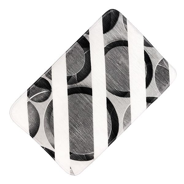 ALFOMBRA de Baño Circulos Gris 45x65cm