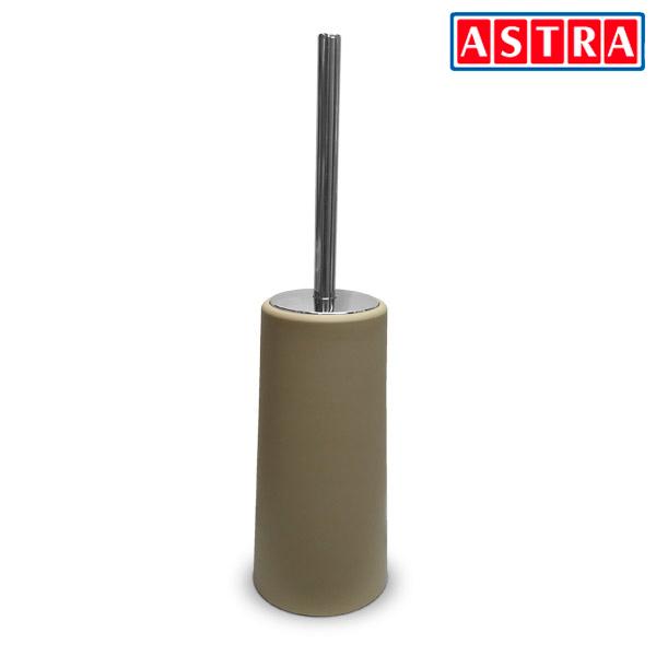 ESCOBILLA Inodoro Plástica Beige/Cromo (Ø 10.5cm/39cm h)
