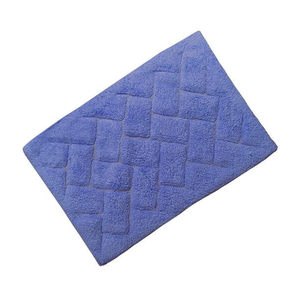 ALFOMBRA 40x60 Algodon Lisa c/Goma Azul