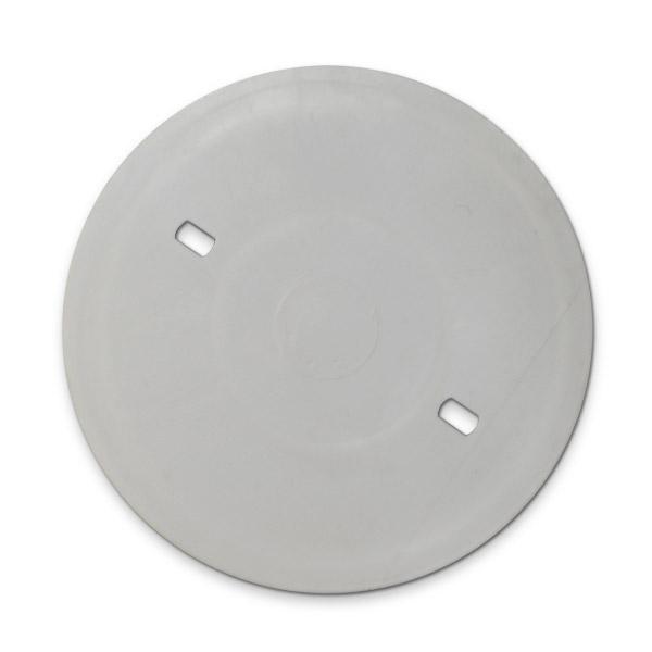 PLAQUETA Plastica Redonda 10cm Ø ( 6cm entre orificios )