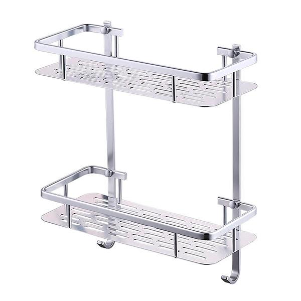 Repisa Aluminio Doble 32*14.5cm / 36cm h