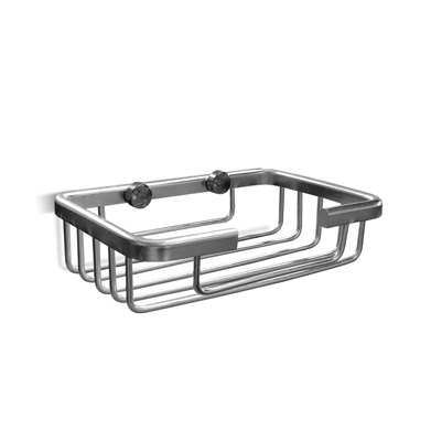 Jabonera Aluminio Rejilla 12.8*8.5cm / 3.5cm H