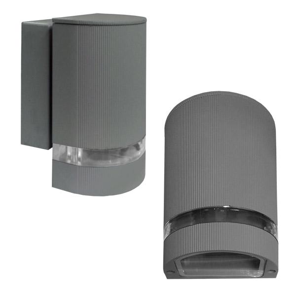 Aplique Exterior 1xGU10 Gris Aluminio 10*10cm / 16cm H