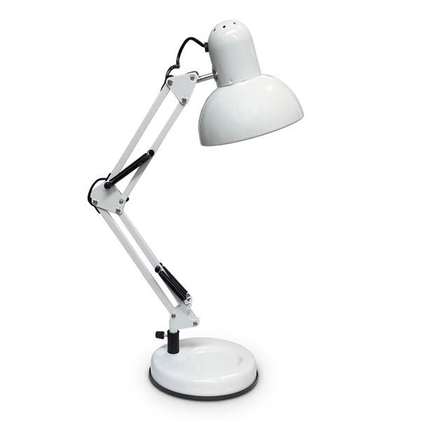 Lampara de Arquitecto Blanca c/Base 15cm Ø / 56cm h