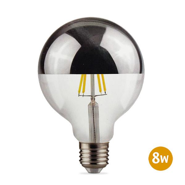 Lámpara LED 8w Globo Espejada Luz Indirecta