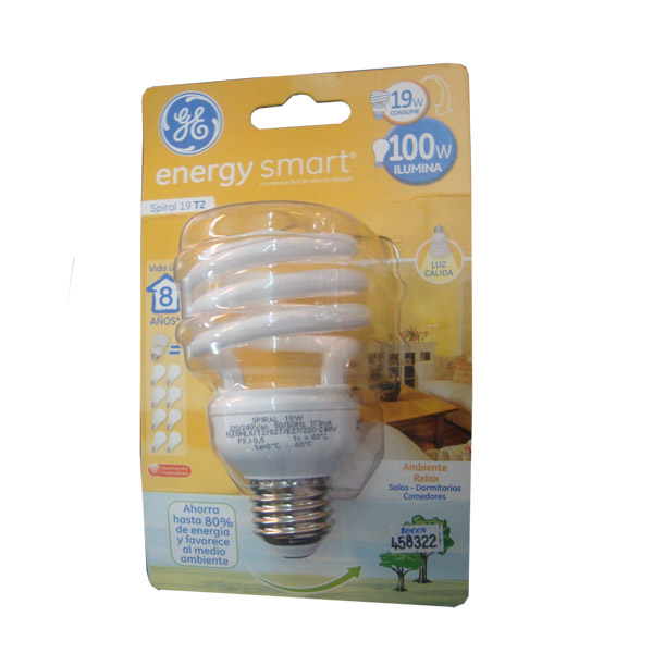 LAMPARA BC 19W E27 Cálida Gral Electric