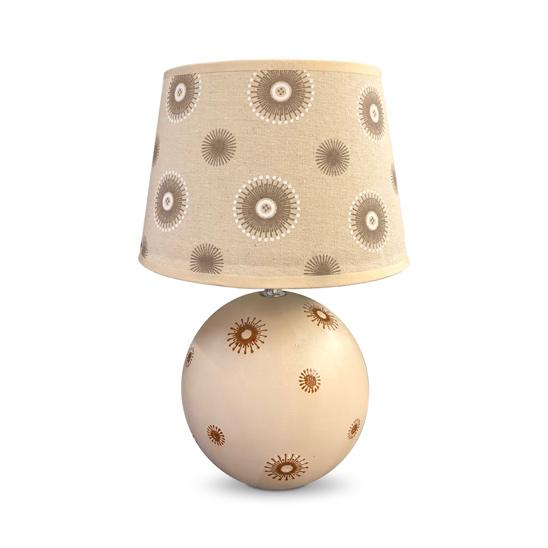 LAMPARA Ceramica c/Pantalla Merlin Beige 36cm H