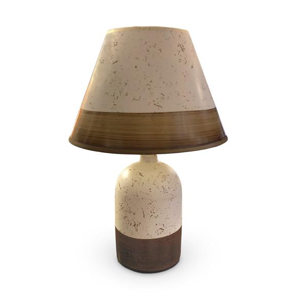 LAMPARA Ceramica Con Pantalla Totti  Ø12cm/38cm H