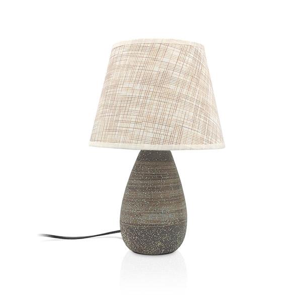 LAMPARA Ceramica c/Pantalla Ankara 37cm h