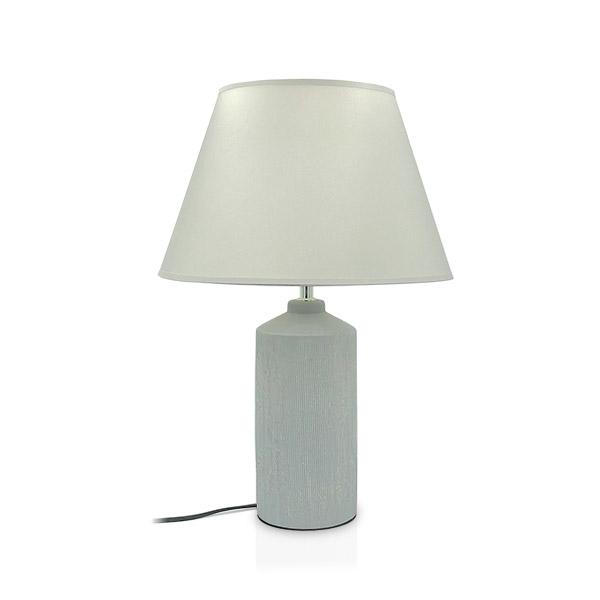 LAMPARA Ceramica c/Pantalla Delfos 49cm h