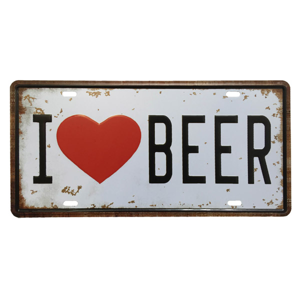 CHAPA I Love Beer 15x30