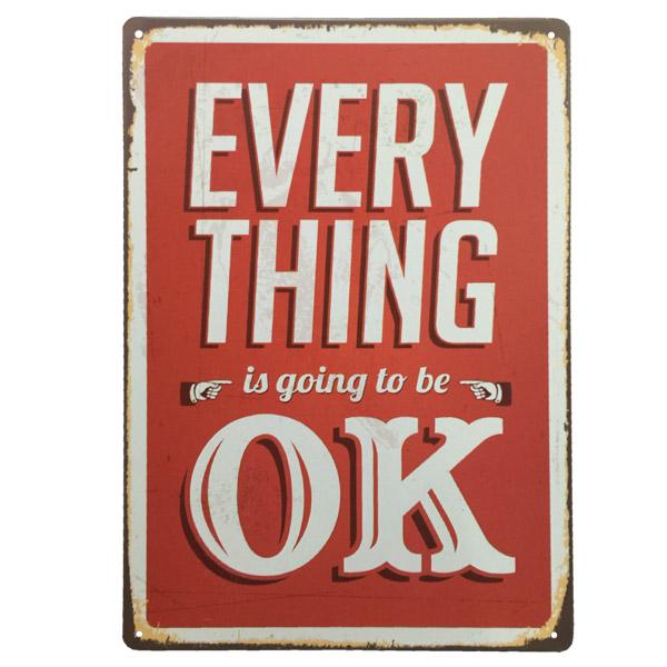 CHAPA Everything OK 20x30cm h