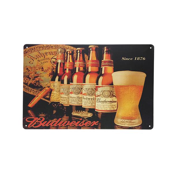 CHAPA Budweiser Since 1876 20x30cm h