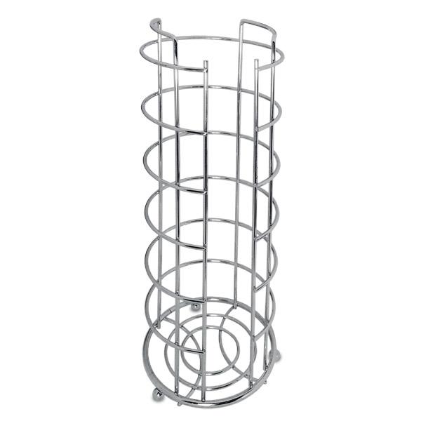 Porta Reserva p/Rollo Cromado Base Ø15 / 38cm h