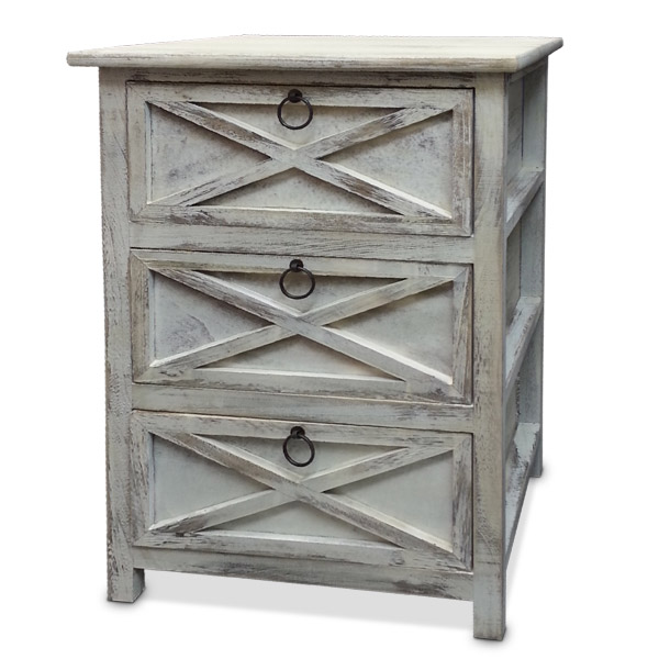Petit Mueble 3 Cajones Blanco Madera 45x30 /65cm h