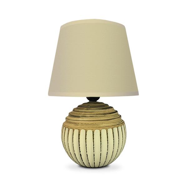 LAMPARA Ceramica Rayas c/Pant.