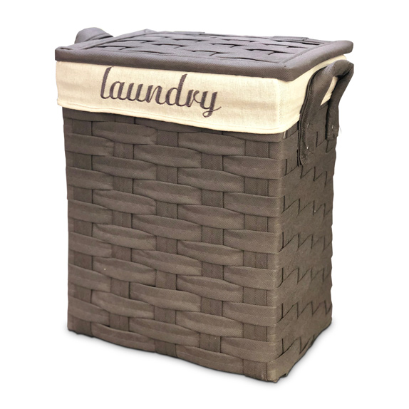 CESTO P/Ropa Chico Gris Laundry Artesanal 30*20/44cm H