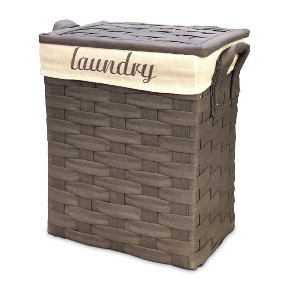 CESTO P/Ropa Grande Gris Laundry Artesanal 44*31/50cm H