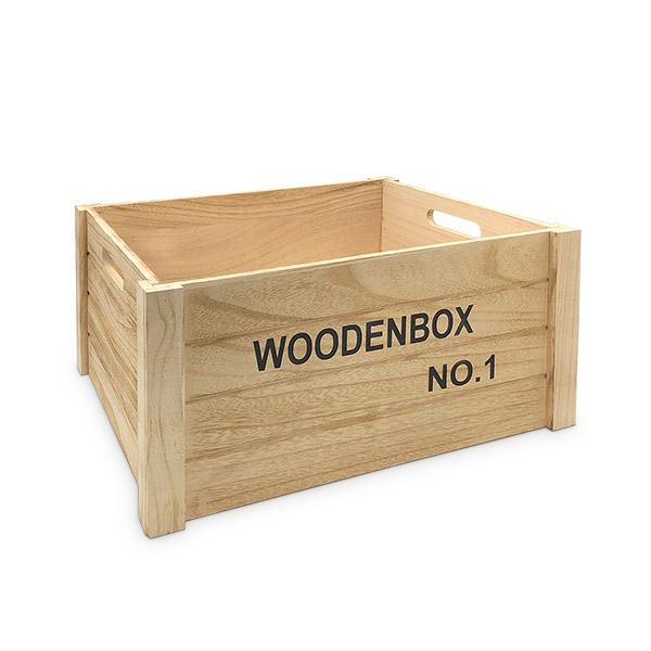 Caja Organizadora Deco Madera Grande 40x30x20cm