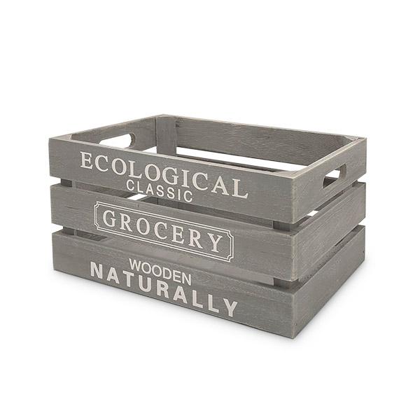 Caja Organizadora Deco Gris Grande 41x32x20cm