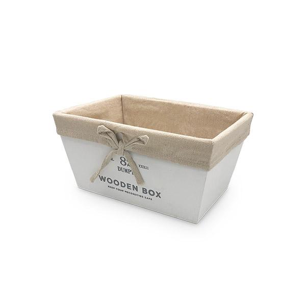 Caja Organizadora Chica Blanca Deco 22x13x11cm
