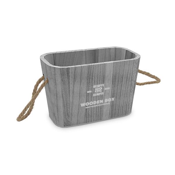 Caja Organizadora Chica Gris Deco 21.5x11x14cm