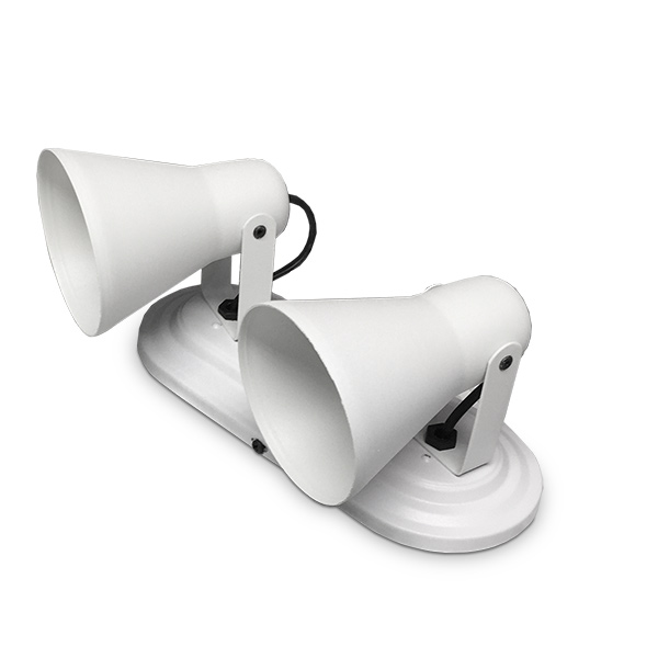 SPOT 2 Luces E27 Blanco Copa 24x10cm / 11cm H