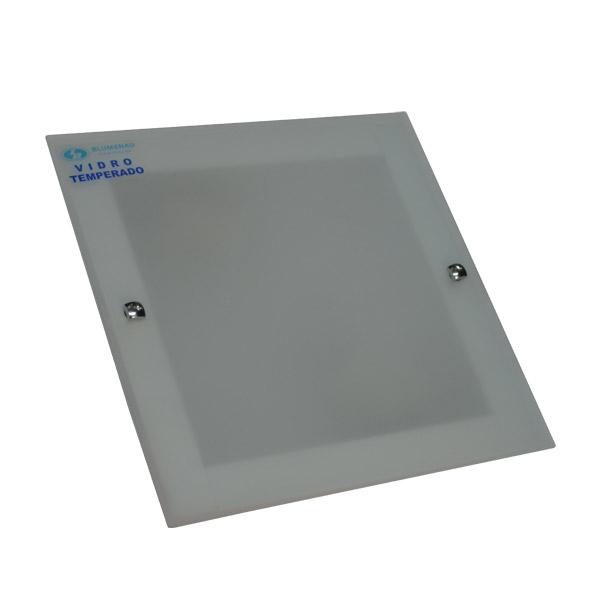 PLAFON 2xE27 Vidrio Plano 24x24 /7cm H