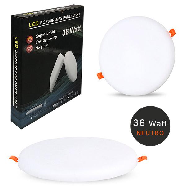 PANEL LED Embutir 36w Neutro Redondo Ø23cm