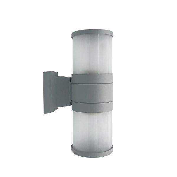 APLIQUE Exterior 2 Luces E27 Vidrio/Aluminio