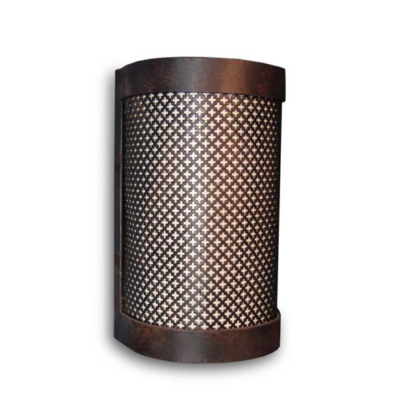 APLIQUE Cilindro Calado Planch/Hierro 13x23cm h