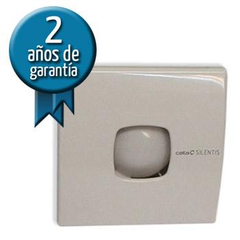EXTRACTOR CATA Blanco Silentis 10 - 98m3/h - 2500 rpm -15w consumo- 14.2x14.2cm - Ø 97mm
