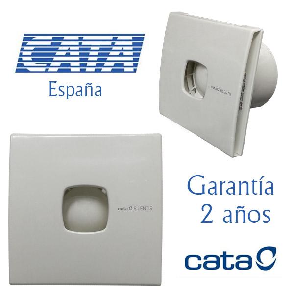 EXTRACTOR CATA Blanco Silentis 12 - 190m3/h - 2450 rpm -20w consumo- 17x17cm - Ø 117.9mm