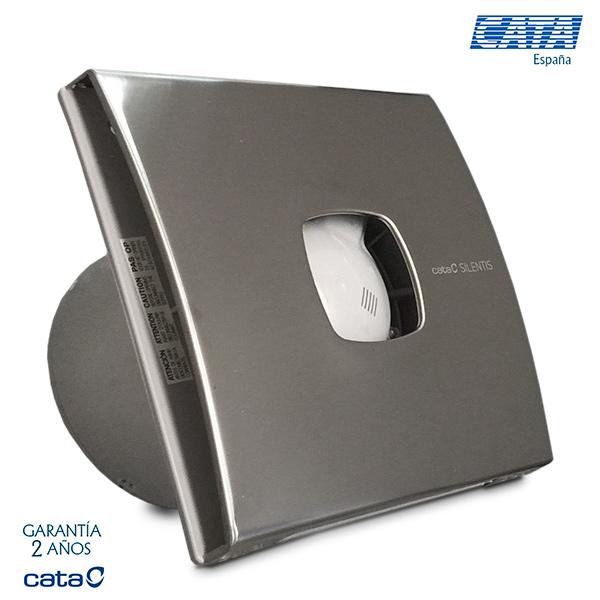 EXTRACTOR CATA Frente Acero Inox Silentis 12 - 190m3/h - 2450 rpm -20w consumo- 17x17cm - Ø 117.9mm