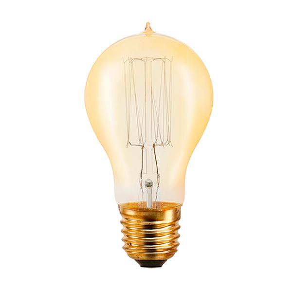LAMPARA E27 40w. Filamento Incand. Ambar 40w