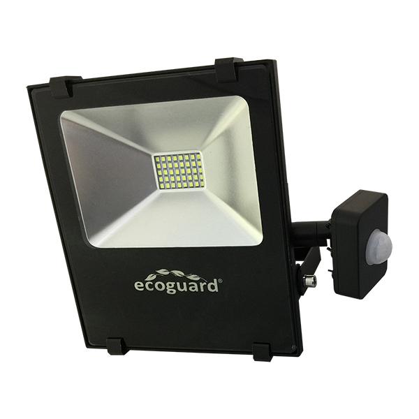 LED Reflector c/Sensor 20w Frio Ecoguard (18 ancho x 20 prof.) /20cm h