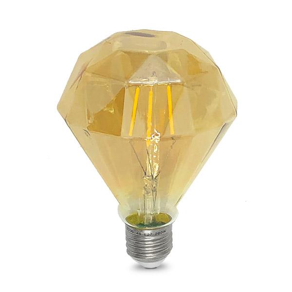 Lampara LED 4W Diamante Vintage Ambar